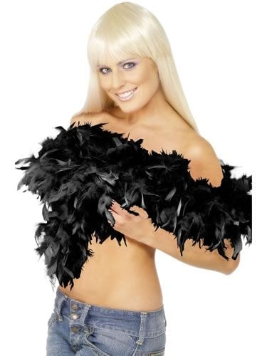 Black Deluxe Feather Boa 80g