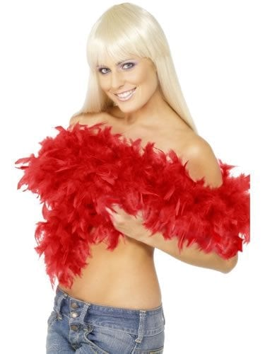 Red Deluxe Feather Boa 80g