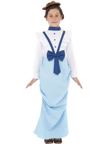 Posh Victorian Girl Childrens Fancy Dress Costume