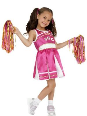 Cheerleader Children's Fancy Dress Costume