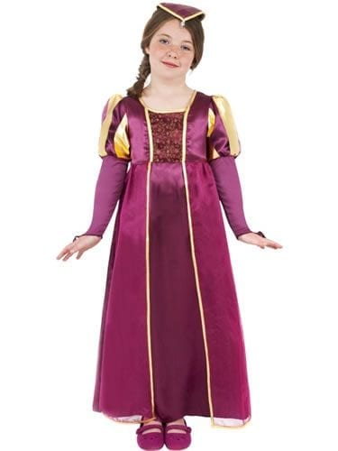 Tudor Girl Childrens Fancy Dress Costume
