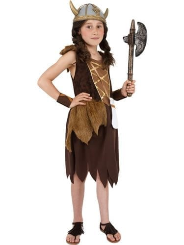 Viking Girl's Childrens Fancy Dress Costume