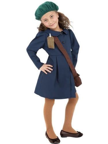 World War II Evacuee Girl Childrens Fancy Dress Costume