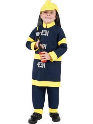 Fireman Boy Children's Fancy Dress Costume (DISC)