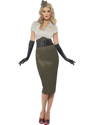 WW2 Army Pin Up Spice Darling Ladies Fancy Dress Costume