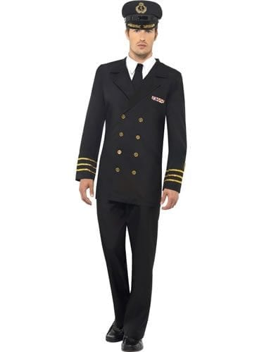Navy Officer Men's Fancy Dress Costume