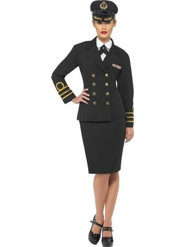 Navy Officer Ladies Fancy Dress Costume