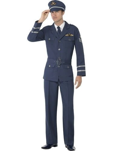 WW2 Air Force Captain Men's Fancy Dress Costume