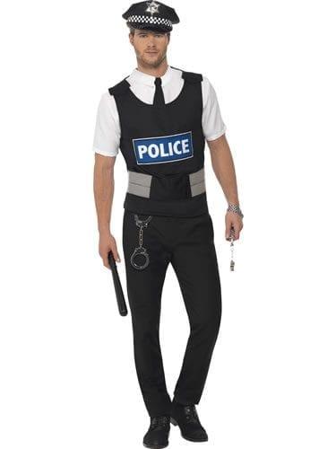 Instant Policeman Kit Men's Fancy Dress Costume