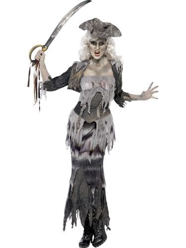 Ghost Ship Ghoulina Ladies Halloween Fancy Dress Costume