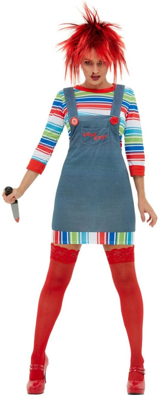 Chucky Ladies Halloween Fancy Dress Costume