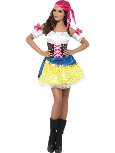Fever Collection Gypsy Glam Ladies Fancy Dress Costume