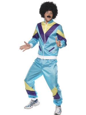 80's Height of Fashion Shell Suit Men's Fancy Dress Cost