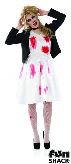 Dead Rock Chick Bride (Chucky's Bride) Ladies Halloween Fancy Dress
