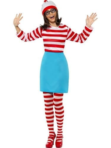 Where's Wally? Wenda Ladies Fancy Dress Costume