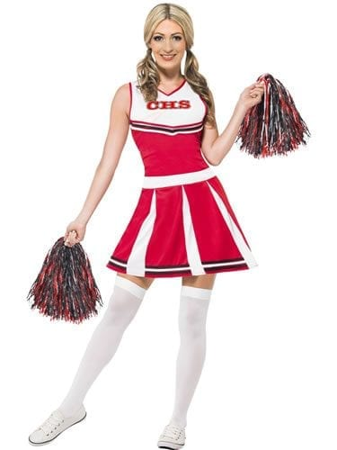 Cheerleader Ladies Fancy Dress Costume