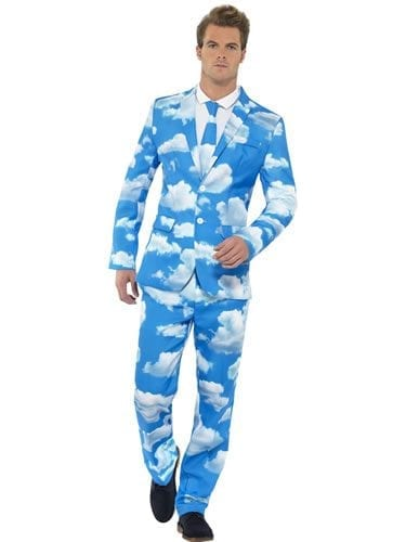 Sky High Standout Suit Men's Fancy Dress Costume