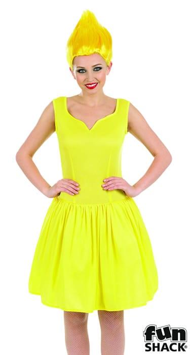 Sexy Yellow Pixie Ladies Fancy Dress Costume