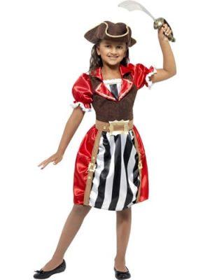 Pirate Girl Captain Children's Fancy Dress Costume