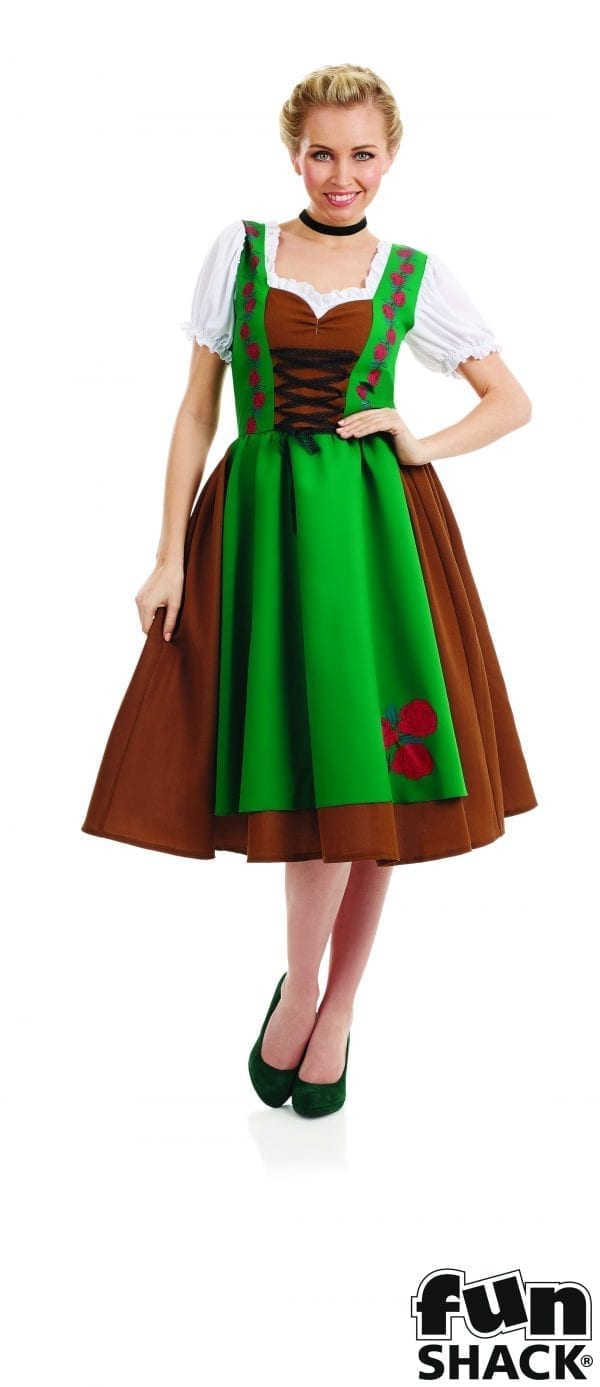 Traditional Bavarian Girl Ladies Fancy Dress Costume
