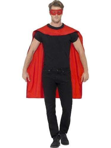 Red Superhero Cape Unisex Fancy Dress Costume