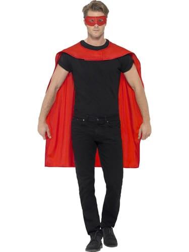 Red Superhero Cape Unisex Fancy Dress Costume