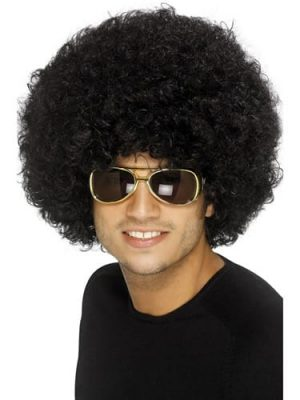 70's Funky Black Afro Wig