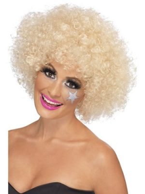 70's Funky Blonde Afro Wig