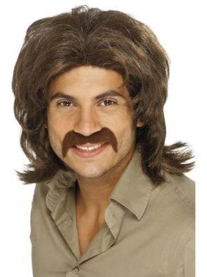 70'S Retro Man Wig Brown