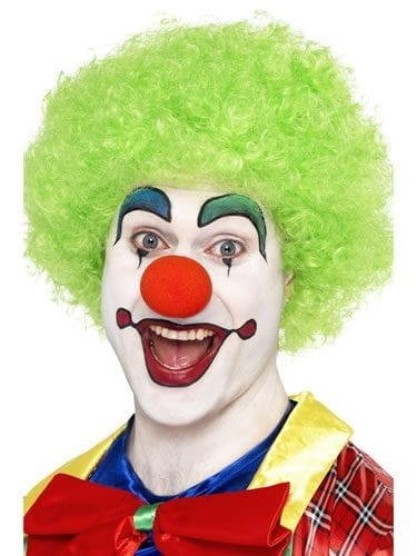 Crazy Clown Green Curly Afro Wig