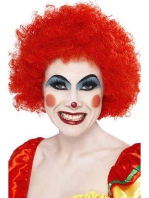 Crazy Clown Red Curly Afro Wig