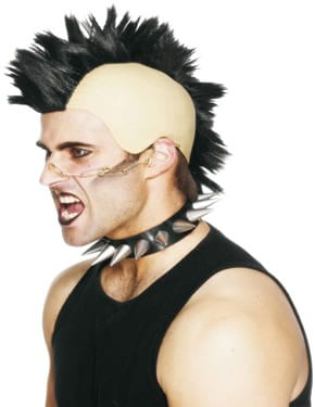 Black Mohican Punk Wig