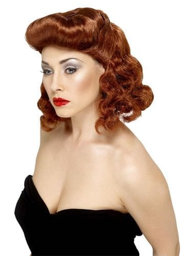 1920's Pin Up Girl Auburn Wig
