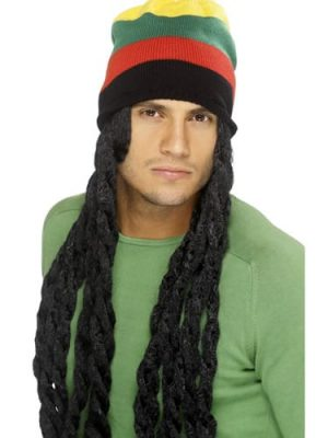 Rasta Hat With Dreadlocks