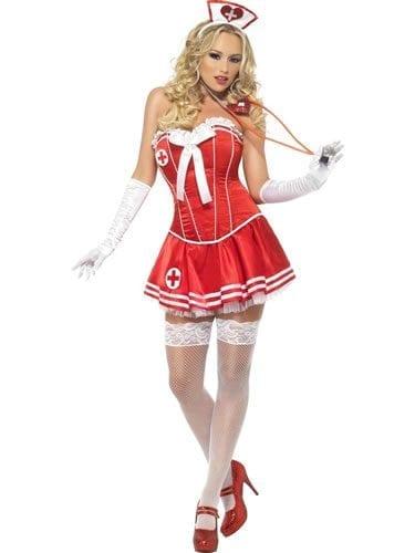 Fever Boutique Collection Nurse Ladies Fancy Dress Costume