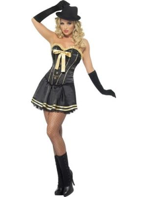 Fever Boutique Collection Gangster Ladies Fancy Dress Costume