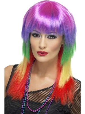 Rainbow Rocker Multicoloured Wig