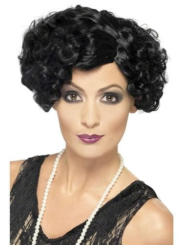 1920's Black Flirty Flapper Wig