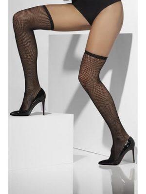 Black Fishnet Hold Up Stockings