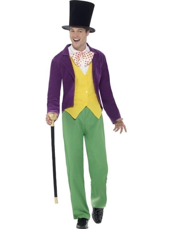 Roald Dahl Willy Wonka Men's Fancy Dress Costume