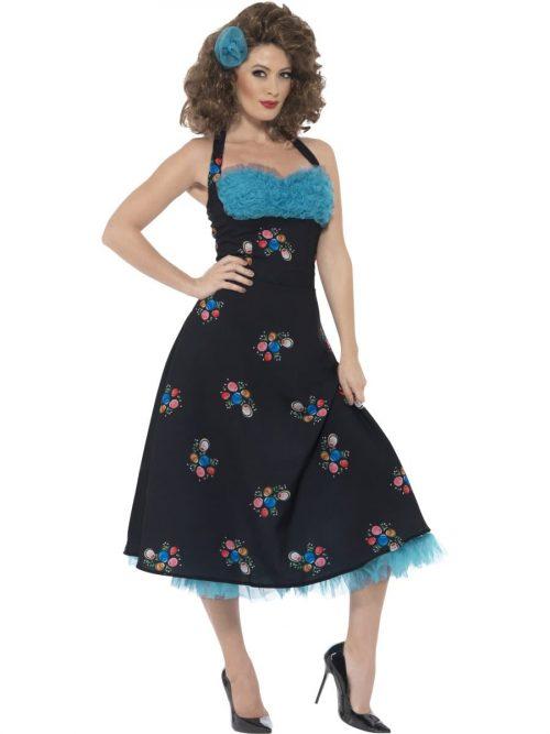 Grease Cha Cha DiGregorio Ladies Fancy Dress Costume