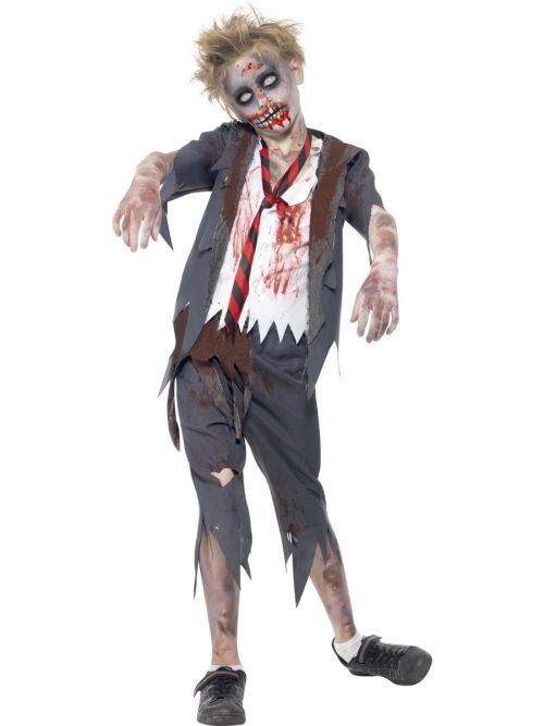 Zombie Schoolboy Children's Halloween Fancy Dress Costume