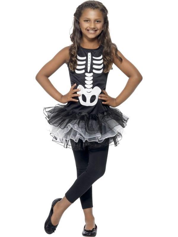 Skeleton Tutu Children's Halloween Fancy Dress Costume