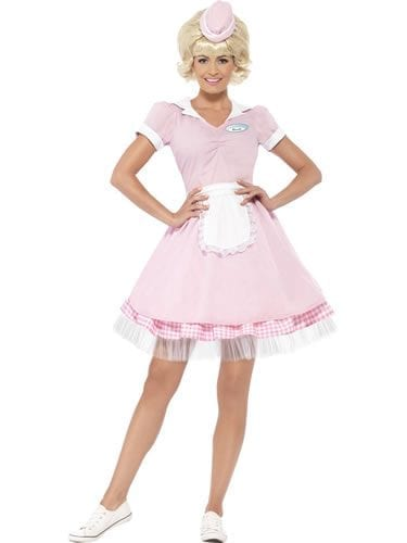 1950's Diner Girl Ladies Fancy Dress Costume