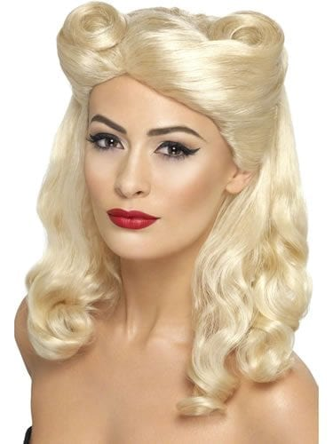 1940's Pin Up Blonde Wig
