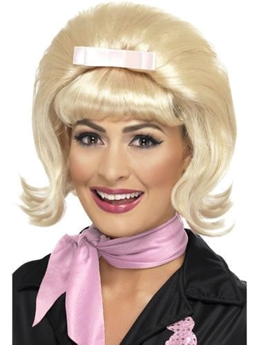 1950's Flicked Beehive Bob Blonde Wig