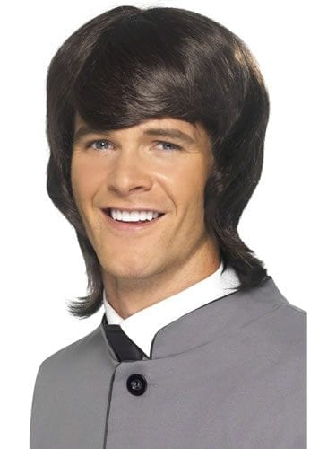 60's Male Mod Wig Brown