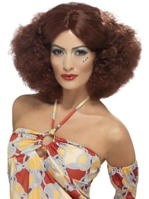 70's Auburn Afro Wig