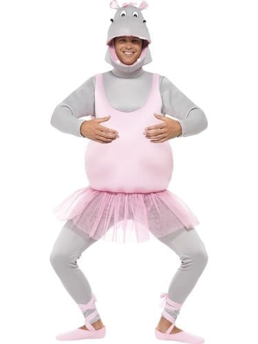 Ballerina Hippo Novelty Fancy Dress Costume