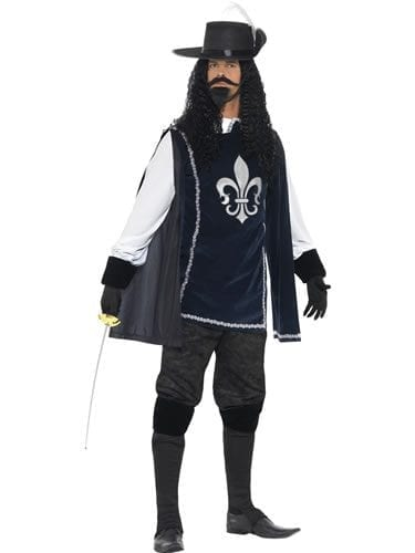 Musketeer Male Men's Fancy Dress Costume